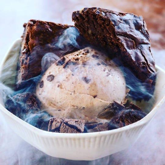 Nice Modern Creamery makes ice cream using liquid nitrogen.