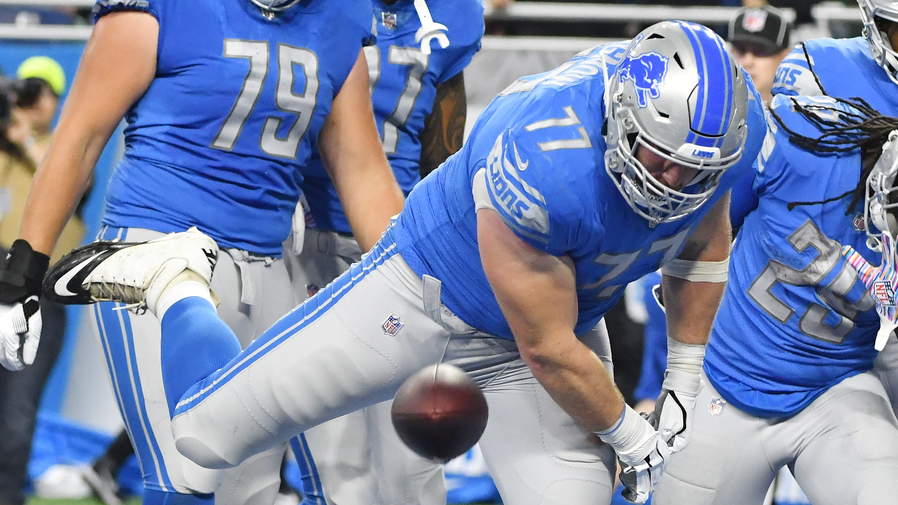 Lions keeping it simple to develop rookies Ragnow, Crosby