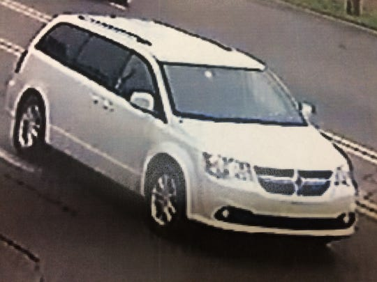 Detroit Police are looking for the suspect who was driving this minivan in connection with a fatal double shooting that happened Monday on the city's west side.