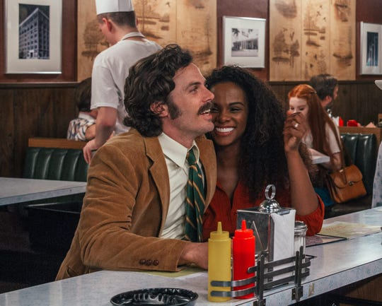 "Casey Affleck and Tika Sumpter in ""The Old Man & the Gun."""