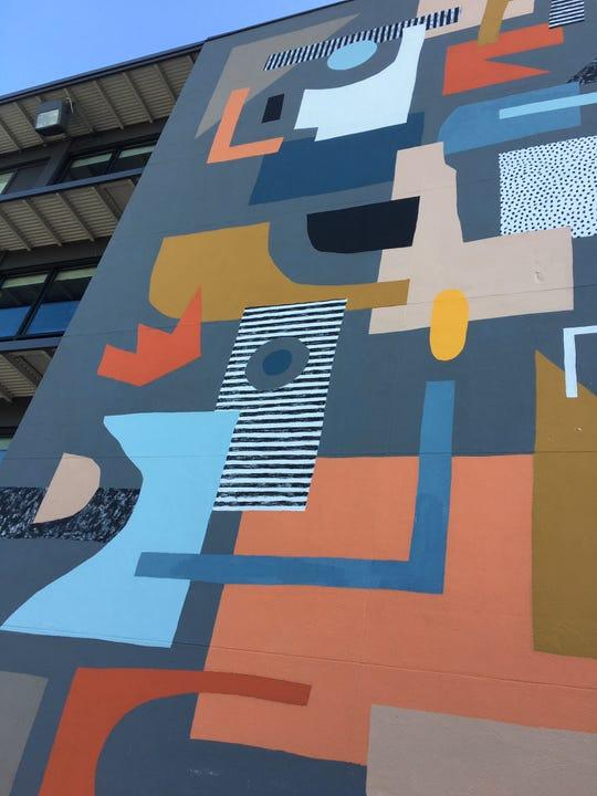 A new work by Detroit muralist Ellen Rutt is on the north side of Trumbull & Porter in Corktown.