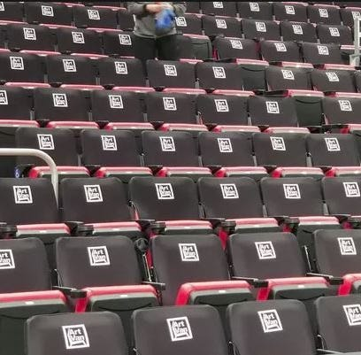 Little Caesars Arena seats getting transformation from red to black