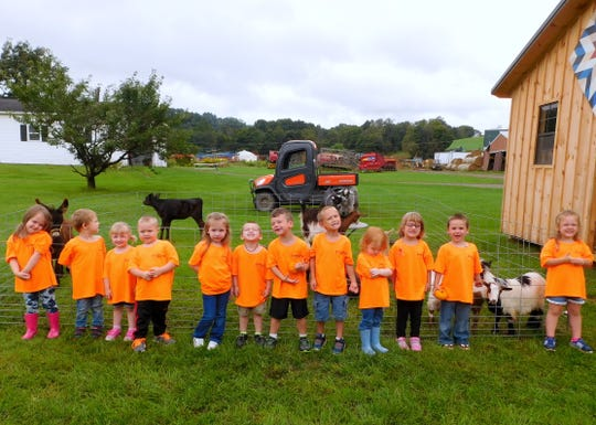 Bradford-Tioga Head Start Canton 1 class students visit Sechrist Farms in Canton during a recent field trip.
