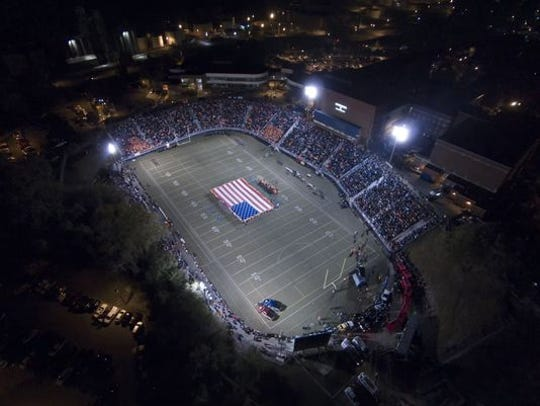 The Reitz Bowl before the start of the annual Reitz vs Mater Dei game in 2015.