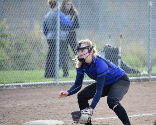Third baseman Brooke Bohlender prepares to field a ground ball during a game last season against Fossil Ridge. The Impalas begin the 2019 season Tuesday with a 4 p.m. game at Castle View.
