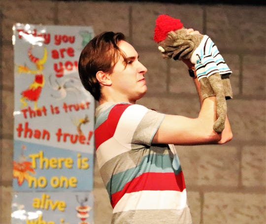 "Steven Coe plays both troubled teen Jason and his foul-mouthed, possibly Satan-possessed puppet Tyrone in Lab Theater's ""Hand To God."""
