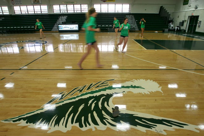 The Fort Myers High School gym as it appears now