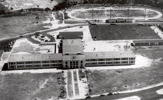 Going up: Fort Myers High School under construction in 1950, courtesy of Kenny Rager