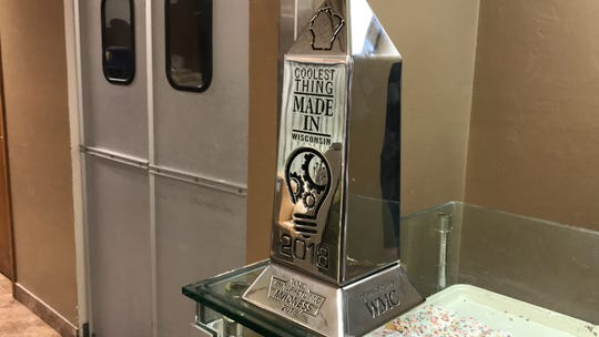 Uncle Mike's Bake Shoppe won the Coolest Thing Made in Wisconsin trophy for 2018 for its sea salt caramel pecan kringle.