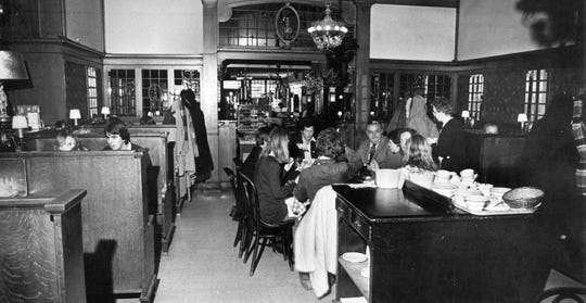 Photo inside Kaap's Restuarant at 212 N. Washington Street in Green Bay shortly before closing in 1980.