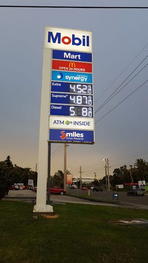 Mobil gas stations raise prices by 10 cents on Tuesday, Oct. 9, 2018.