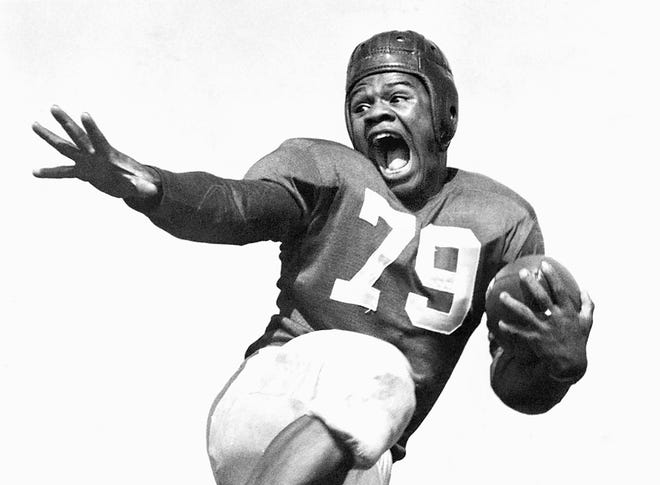 George Taliaferro, 88, former IU football star, was the first African-American drafted by an NFL team. Here is a submitted photo of him when he played for Indiana University.