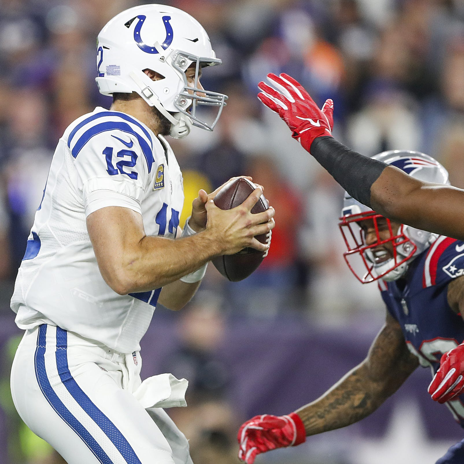 Ground game woes put Andrew Luck in jeopardy, limits scheme, muzzles O-line