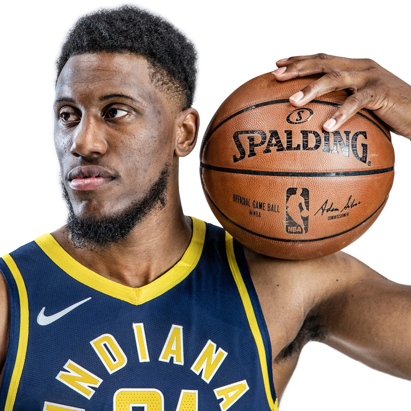 Pacers forward Thaddeus Young (21) provides a...