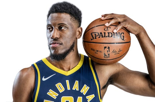 Pacers forward Thaddeus Young (21) provides a veteran presence in the frontcourt.