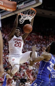 Indiana's De'Ron Davis impressed against Duke's frontcourt filled with NBA talent.
