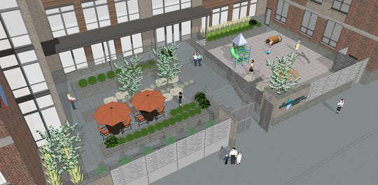 Another look at the courtyard area of the expanded Eastside center.