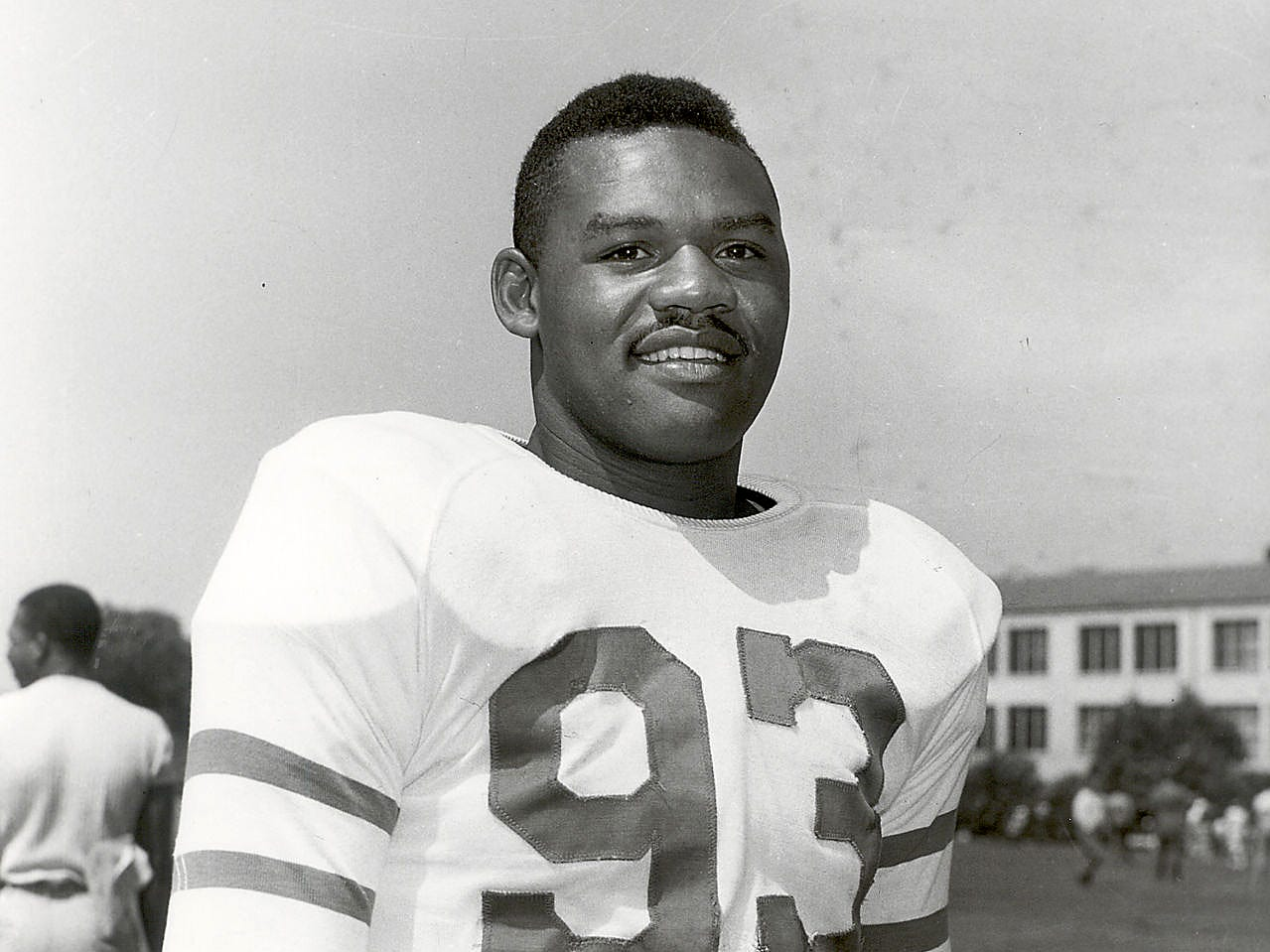 George Taliaferro, 91, former IU football star, was the first African-American drafted by an NFL team. Here is a submitted photo of him when he played for the New York Yanks.