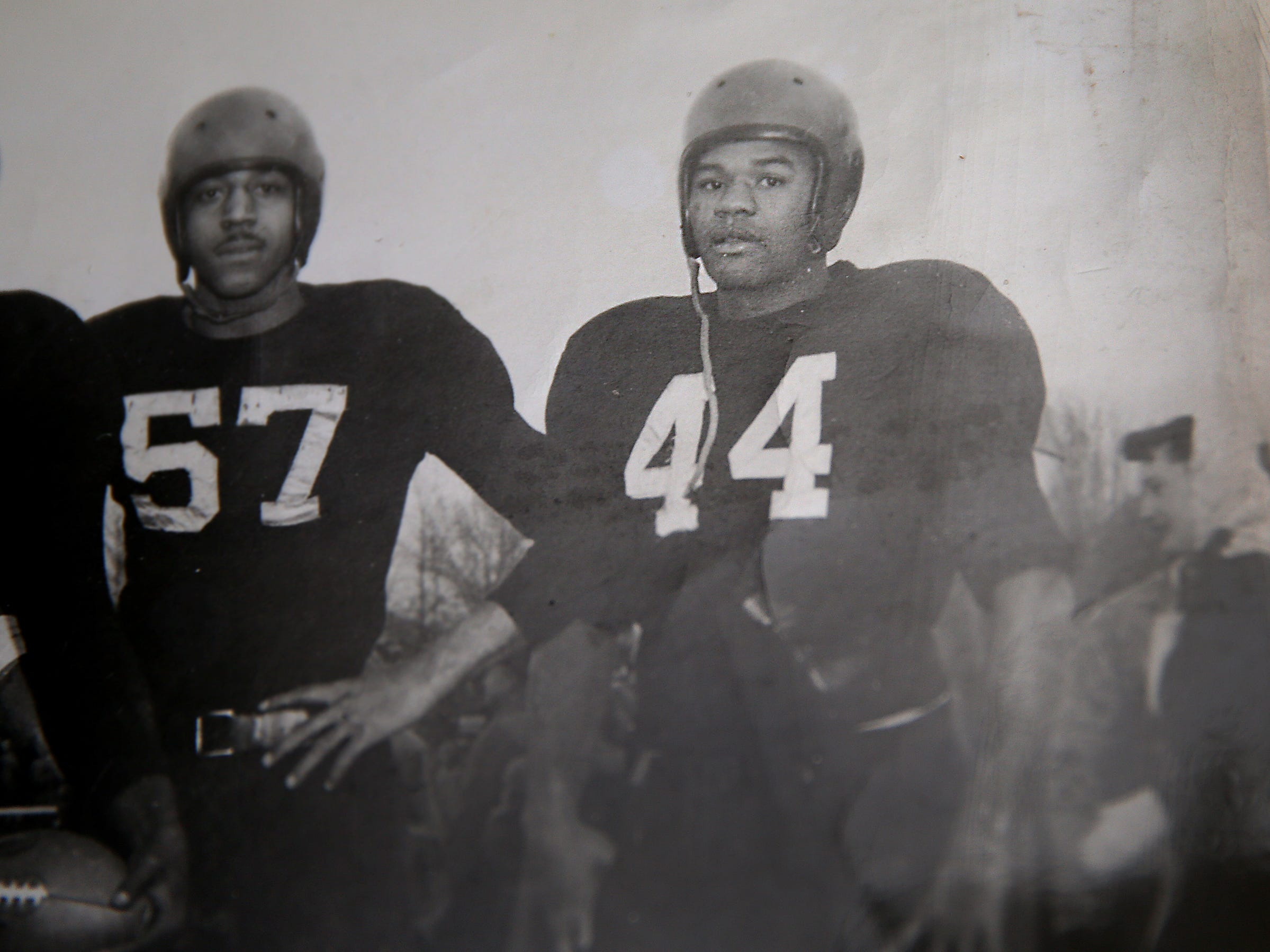 George Taliaferro, 91, former IU football star, was the first African-American drafted by an NFL team. Here is a submitted photo of him (#44) when he played for Indiana University.
