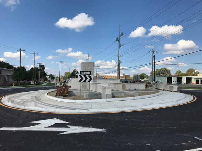 Greenwood's $2.9 million roundabout is scheduled to open this week at Smith Valley Road and Madison Avenue.