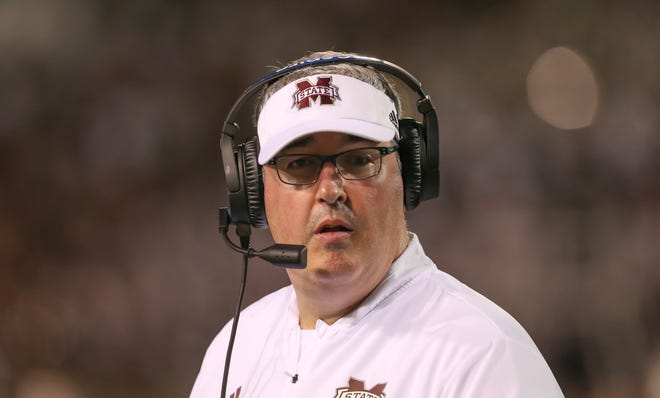 Mississippi State head coach Joe Moorhead had a few setbacks in the first half of his inaugural season, but the Bulldogs still have much to play for down the stretch. Photo by Keith Warren/Madatory Photo Credit