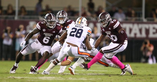 Mississippi State's defense has swarmed to the opposition all season, but it could use more help from a struggling offense for the Bulldogs to reach their full potential this season. Photo by Keith Warren/Madatory Photo Credit