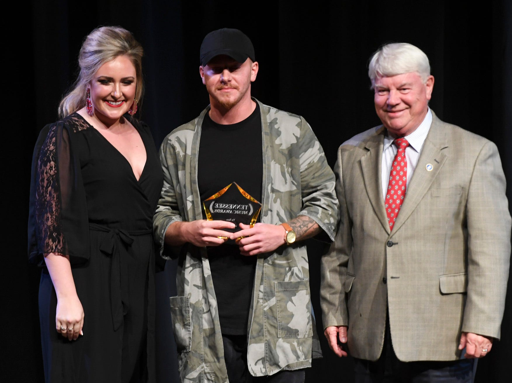 Tin Tenn was presented with the Hip Hop Artist of the Year award at the 2nd Annual Tennessee Music Awards, Monday, October 8, at University of Memphis Lambuth.