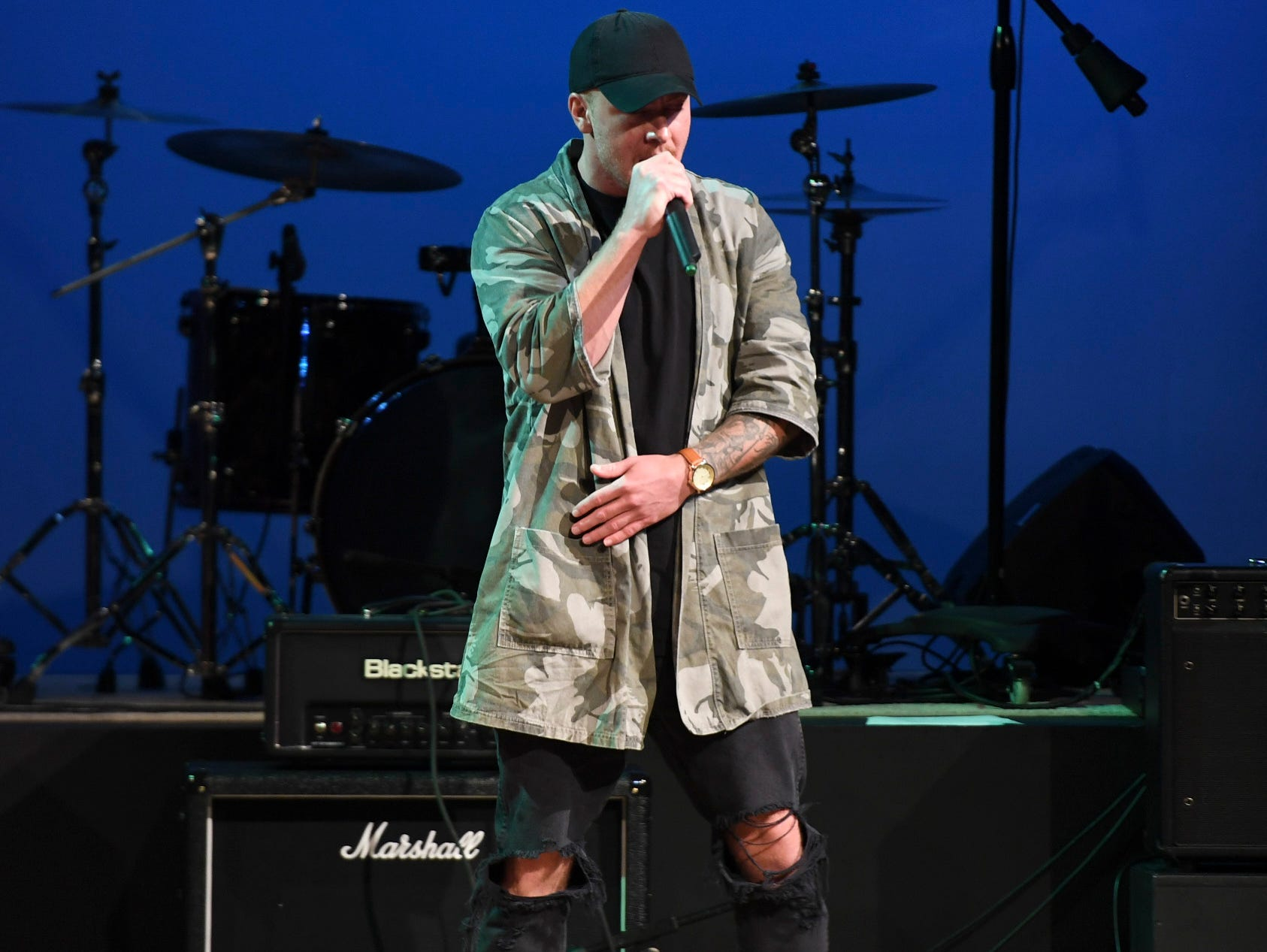 Hip Hop artist Tin Tenn performed at the 2nd Annual Tennessee Music Awards, Monday, October 8, at University of Memphis Lambuth.