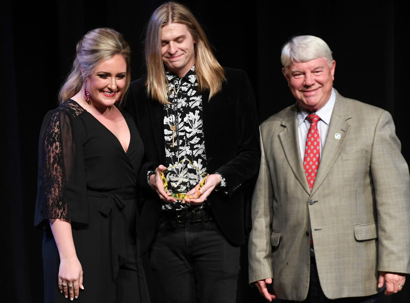 Hunter Cross was presented with the Guitarist of the Year Award at the 2nd Annual Tennessee Music Awards, Monday, October 8, at University of Memphis Lambuth.