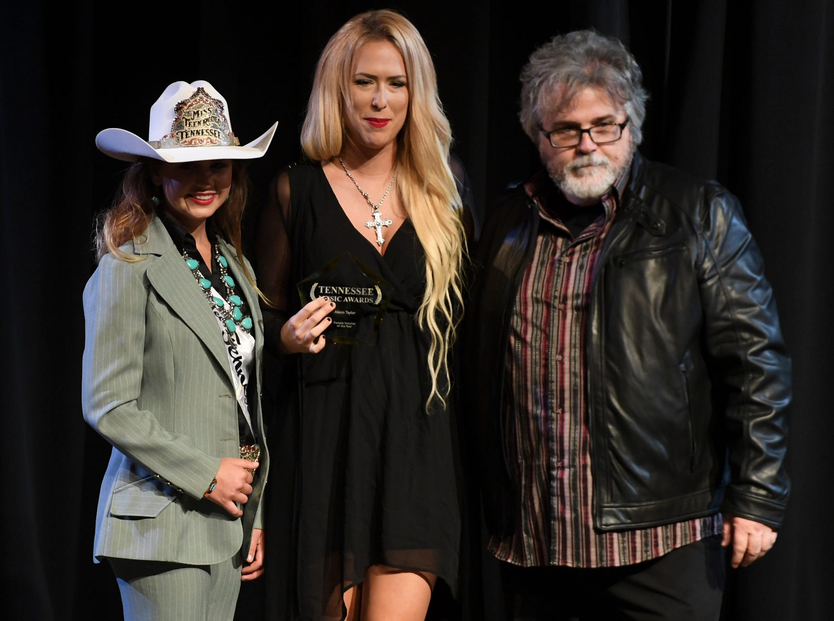 Alexis Taylor received the award for Female Artist of the Year at the 2nd Annual Tennessee Music Awards, Monday, October 8, at University of Memphis Lambuth.