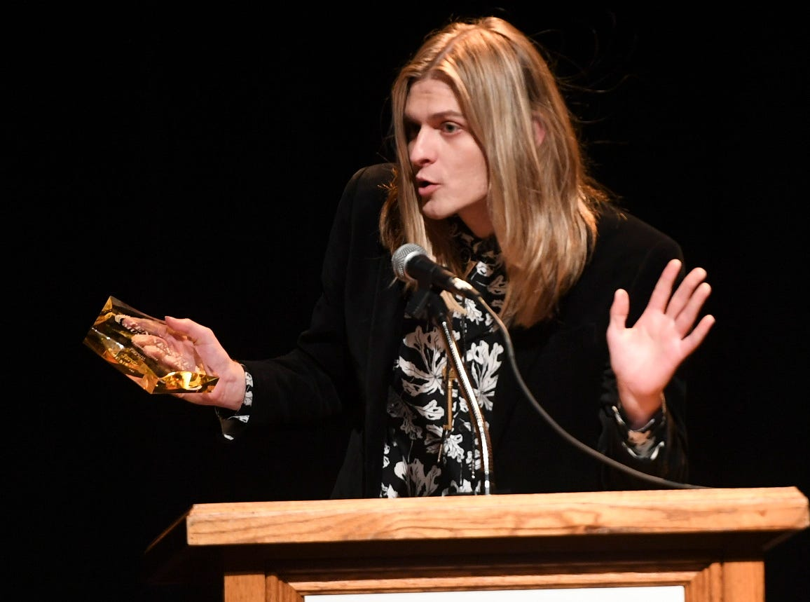 Hunter Cross accepted the award for Guitarist of the year at the 2nd Annual Tennessee Music Awards, Monday, October 8, at University of Memphis Lambuth.