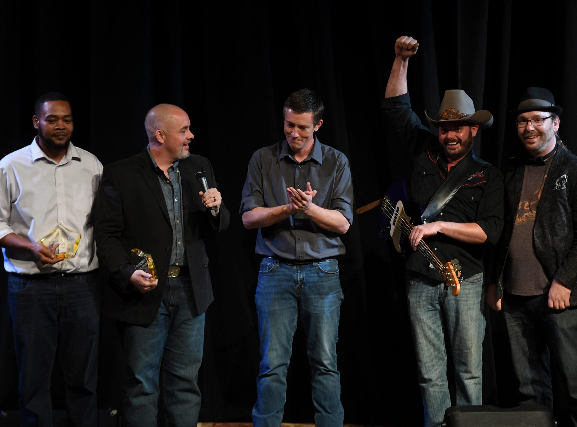 Rev. Jessie and the Holy Smokes received the award for Country Artist of the Year at the 2nd Annual Tennessee Music Awards, Monday, October 8, at University of Memphis Lambuth.