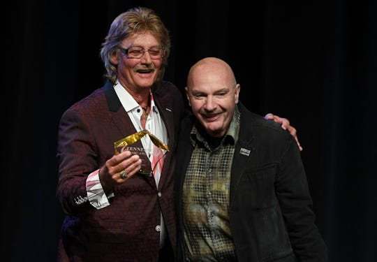Stan Perkins, the son of Carl Perkins, and Wes Henley, both spoke at the Tennessee Music Awards last year when Carl was given a Lifetime Achievement Award. Henley also won Producer of the Year.