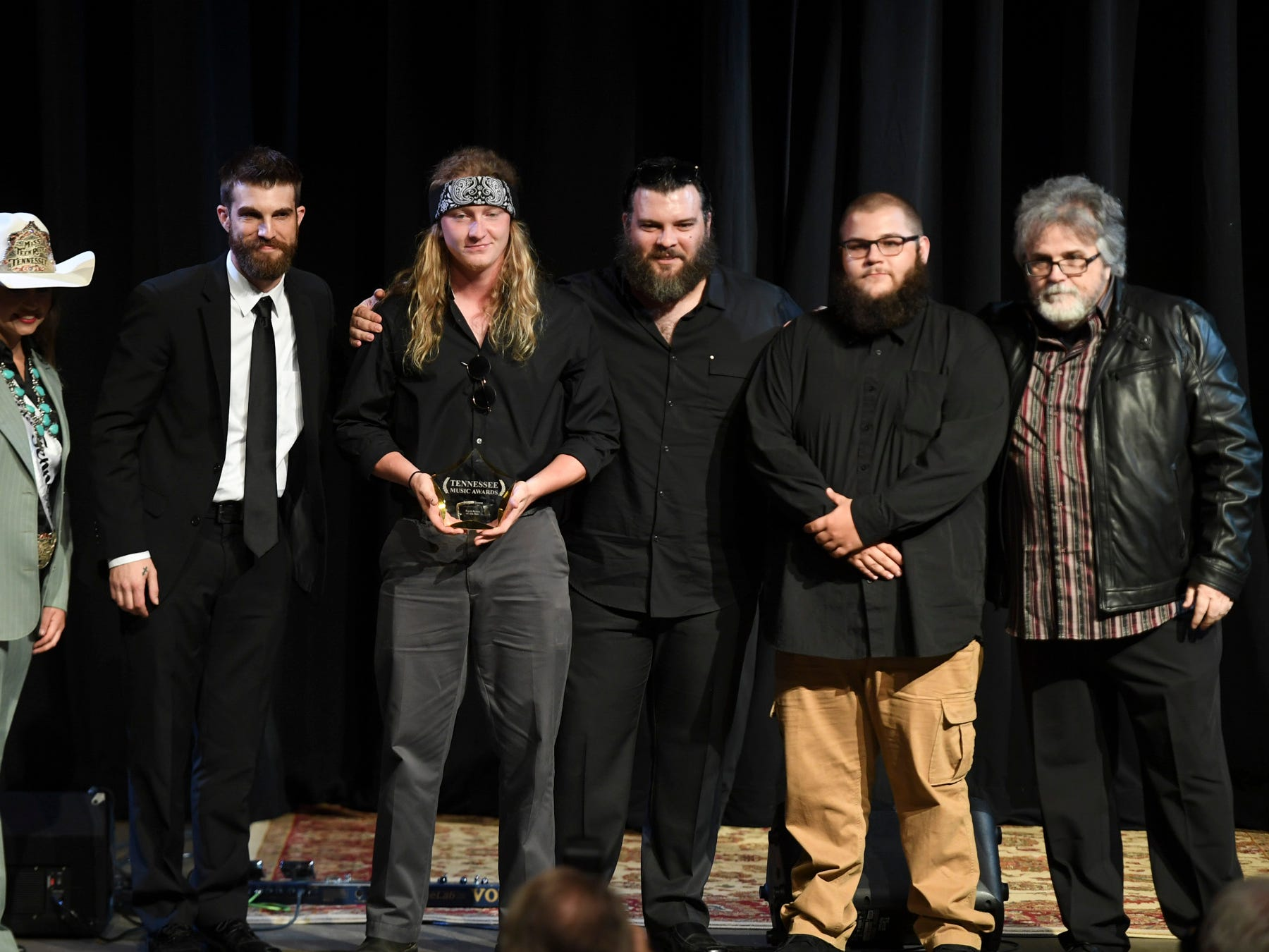 Jupiter Stone received the award for Rock Artist of the Year at the 2nd Annual Tennessee Music Awards, Monday, October 8, at University of Memphis Lambuth.