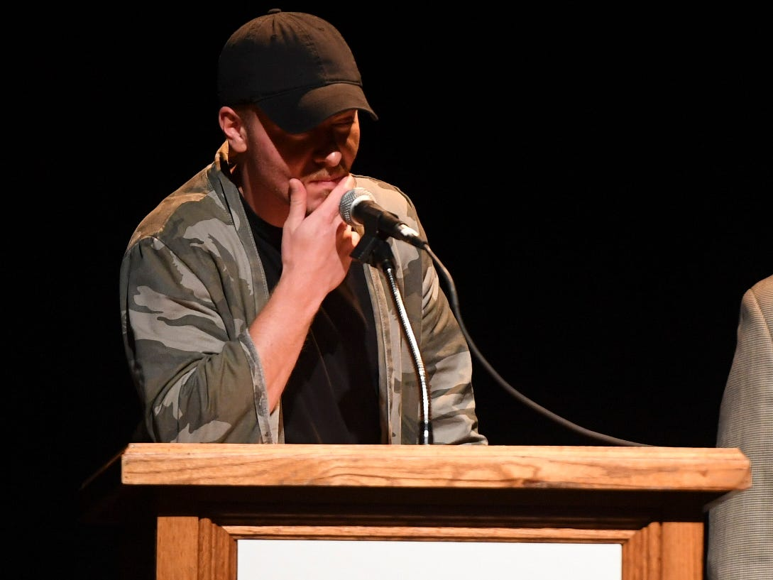 Hip Hop Artist of the Year Tin Tenn gives an acceptance speech during the 2nd Annual Tennessee Music Awards, Monday, October 8, at University of Memphis Lambuth.