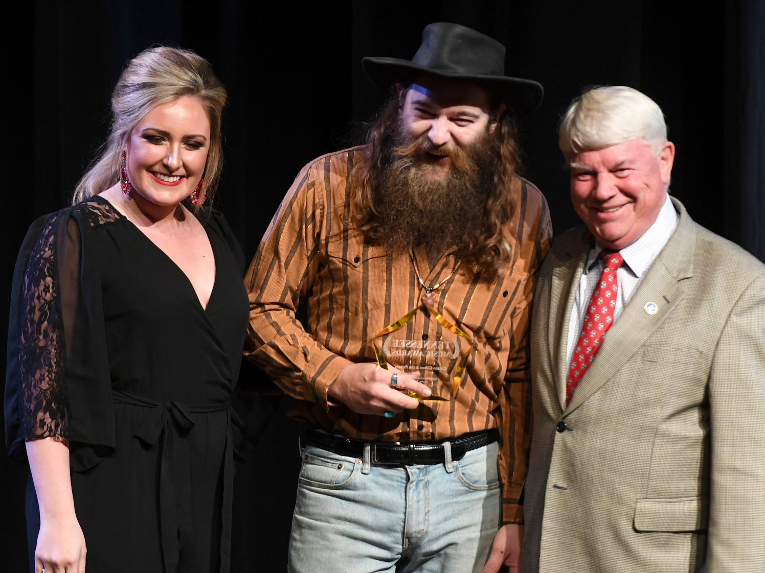 Cotton Clifton of Cotton Clifton and the Pickers received the award for Indie Band of the Year at the 2nd Annual Tennessee Music Awards, Monday, October 8, at University of Memphis Lambuth.