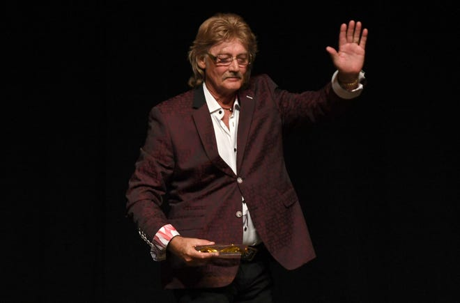 Stan Perkins accepted the Lifetime Achievement Award on behalf of his father, the late Carl Perkins, at the 2nd Annual Tennessee Music Awards, Monday, October 8, at University of Memphis Lambuth.