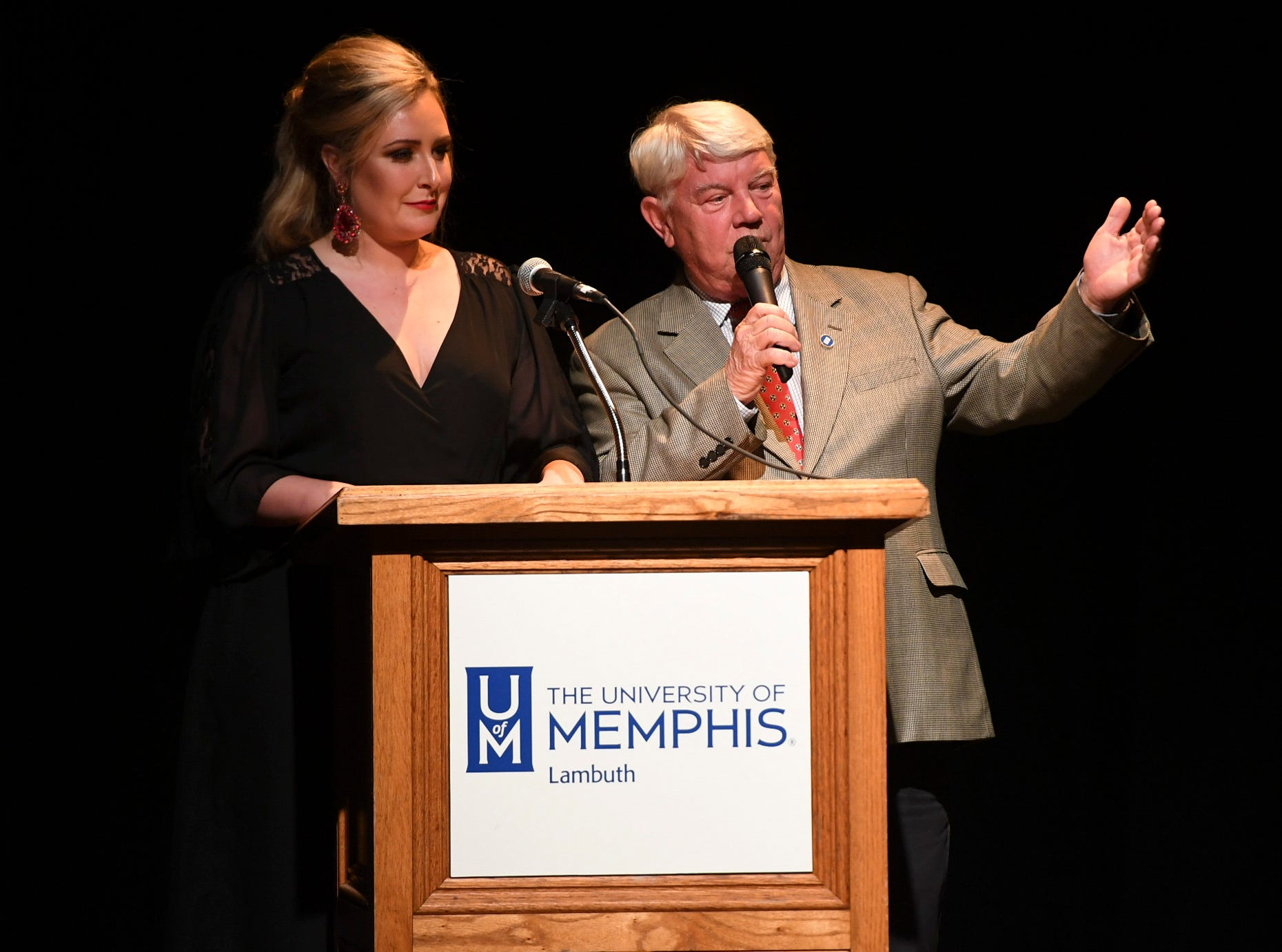 Miss Tennessee 2016 Grace Burgess and Rep. Jimmy Eldridge presented the awards for Guitarist of the Year, Hip Hop/Rap Artist of the Year, and Indie Band of the Year at the 2nd Annual Tennessee Music Awards, Monday, October 8, at University of Memphis Lambuth.
