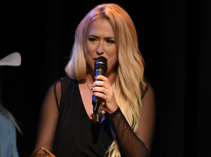 Alexis Taylor received the Female Vocalist of the Year award at the 2nd Annual Tennessee Music Awards, Monday, October 8, at University of Memphis Lambuth.