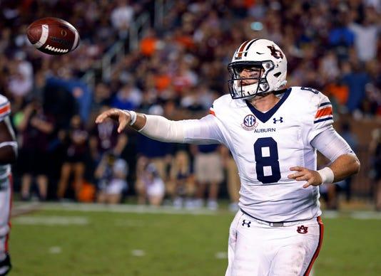 Auburn quarterback Jarrett Stidham