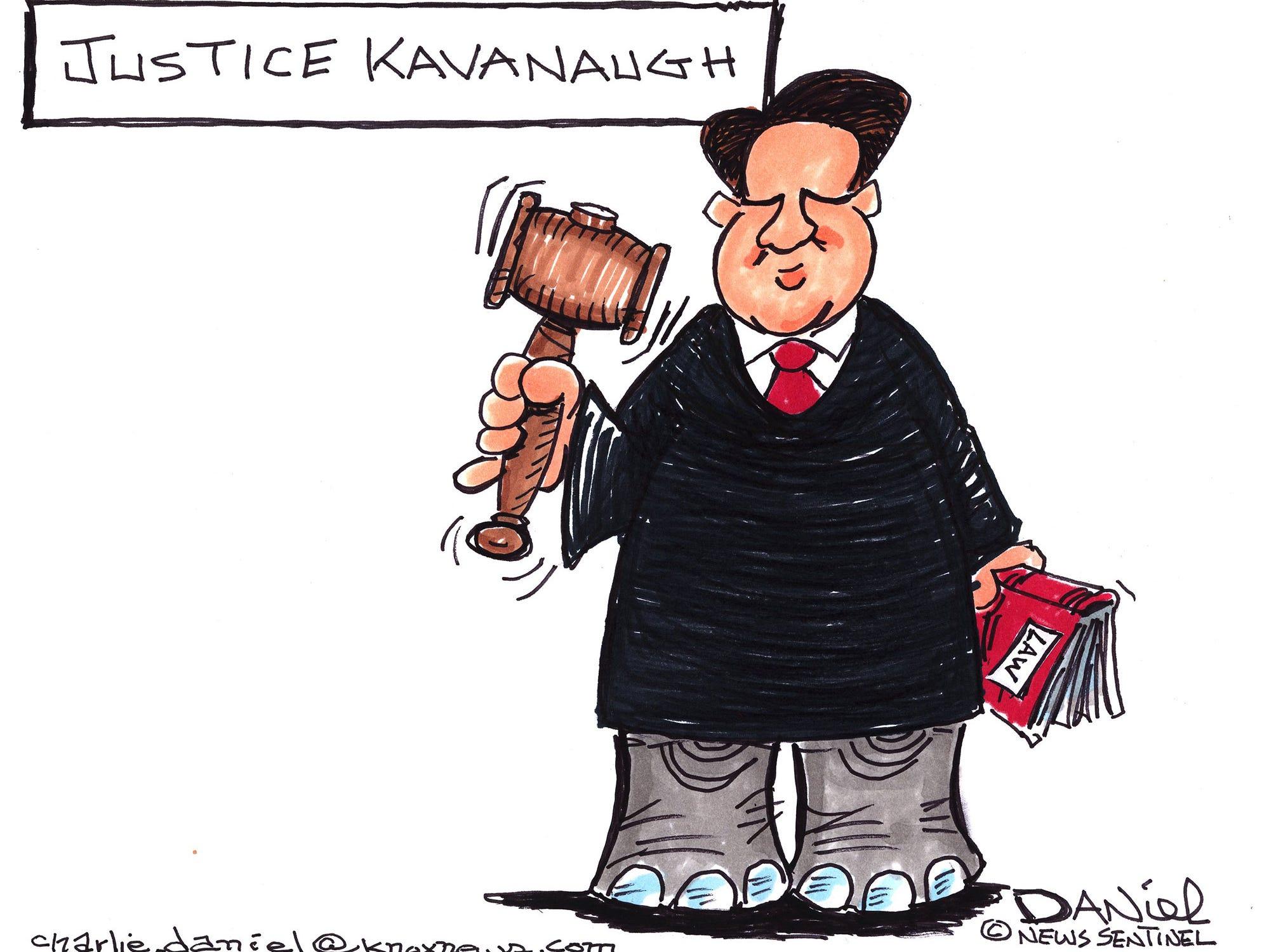 Charlie Daniel editorial cartoon for Wednesday, Oct. 10, 2018.