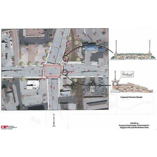 A 2012 study shows possible upgrades for the intersection of Kingston Pike and Northshore Drive, now being studied in more detail.