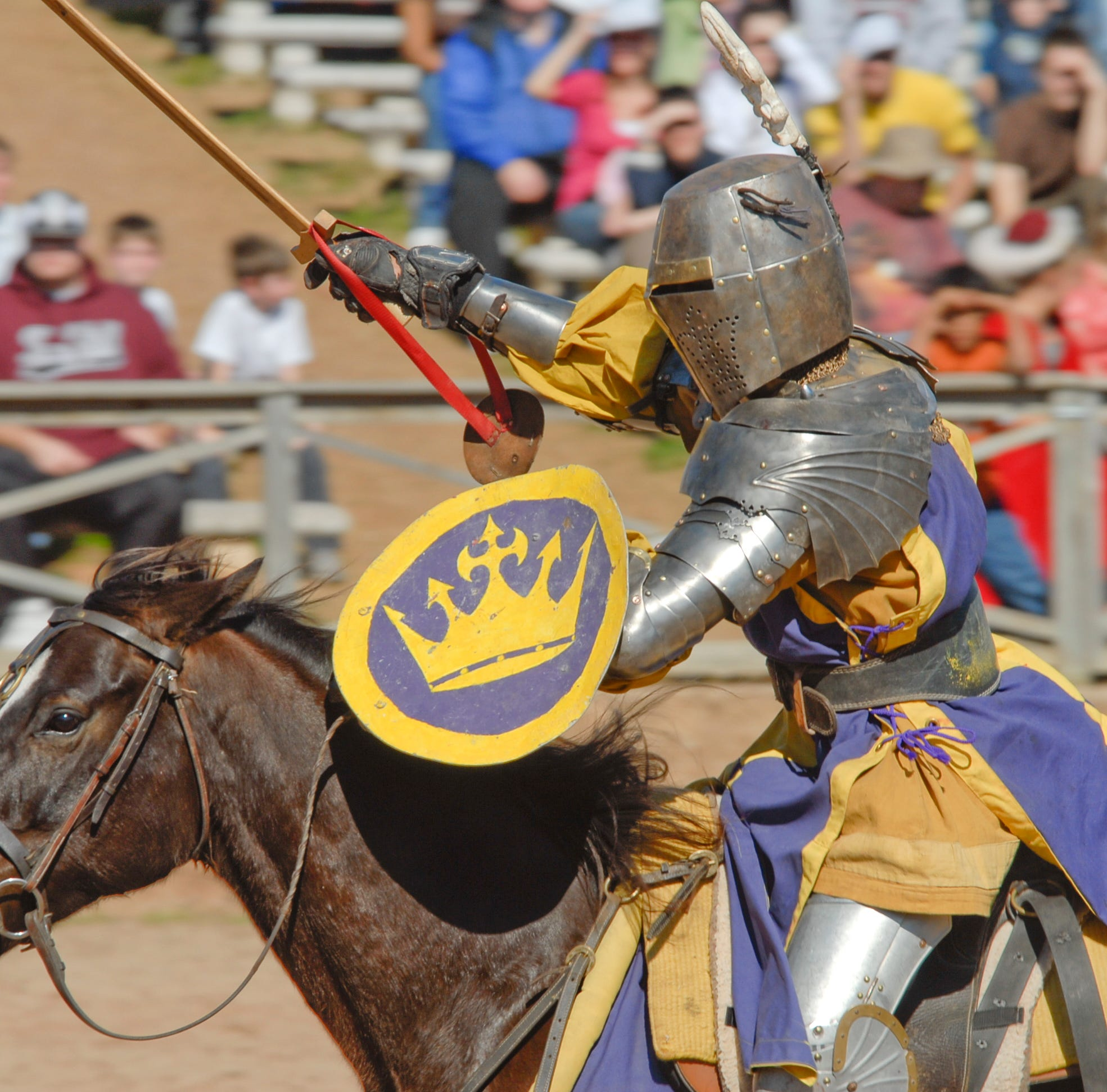 Medieval knight impales himself on lance during Kentucky performance