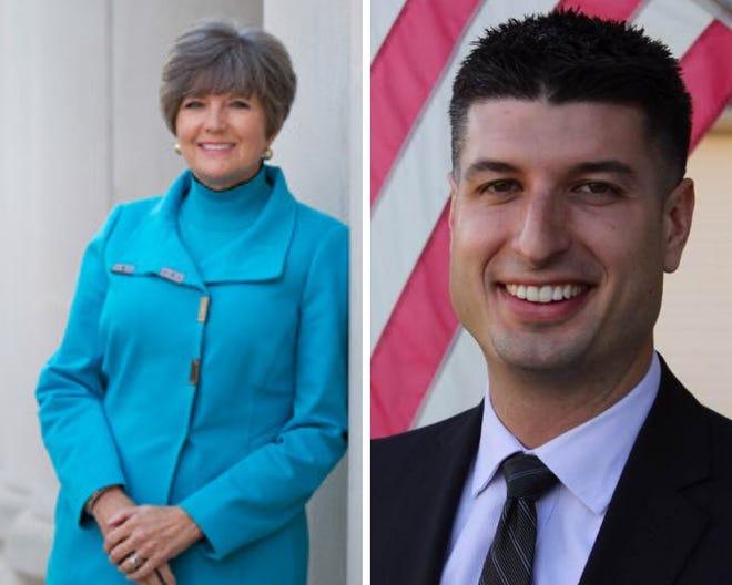 Kelly Rossman-McKinney, left. Tom Barrett, right.