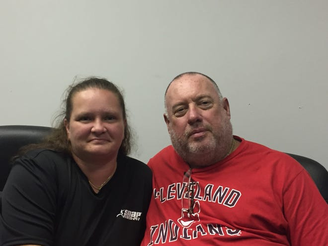 Serenity Fliger and Bob Santoro believe fugitive Shawn Christy was on their property the day before he was captured.