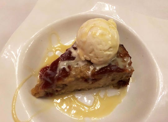 The bread pudding at The Real Mccaw, Naples.