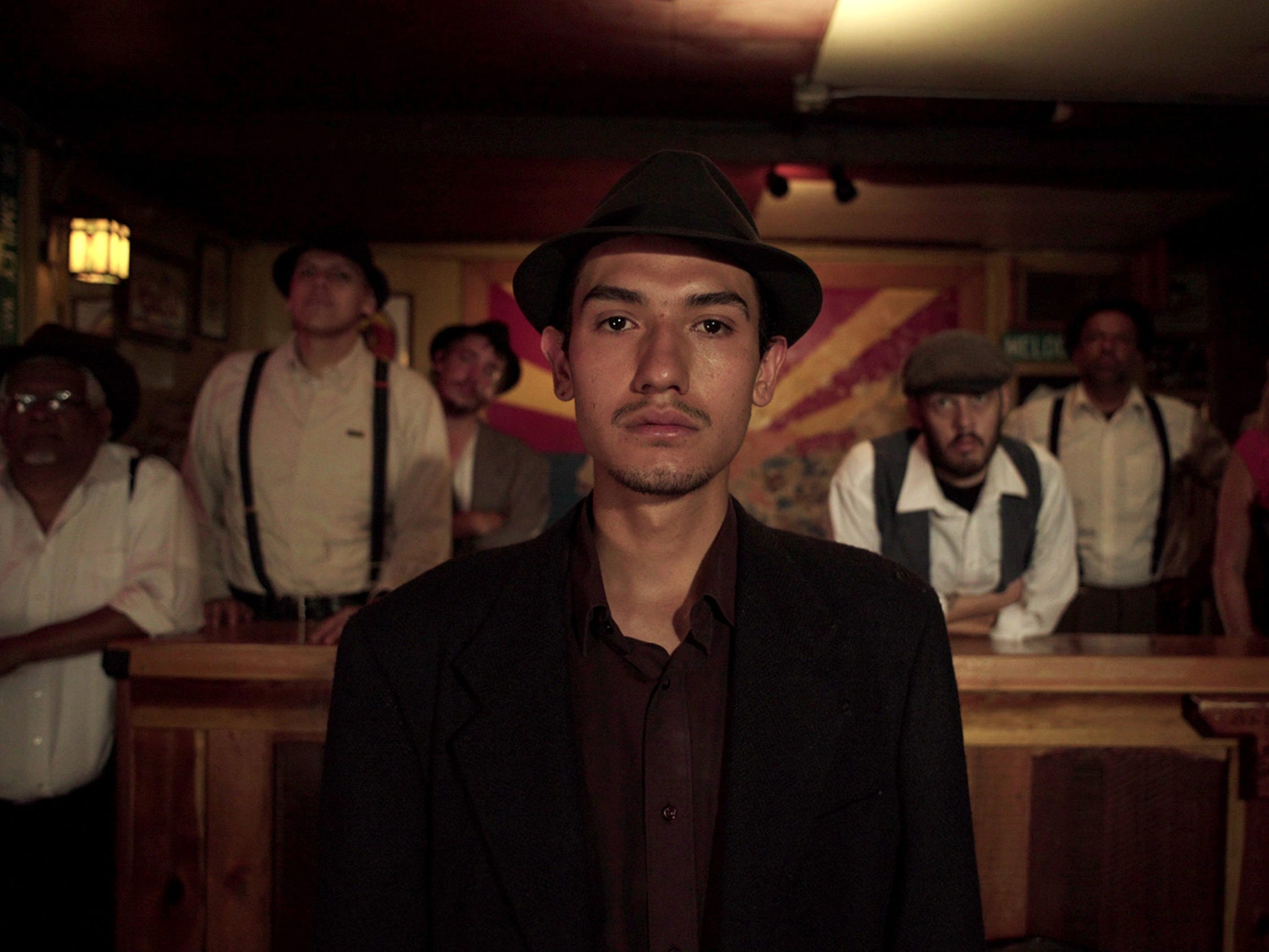 "Fernando Serrano portrays a miner on strike along with other Bisbee, Ariz., residents in the documentary ""Bisbee '17,"" a re-creation of the event when 1,200 immigrant miners were deported from their Mexico border town 100 years ago."