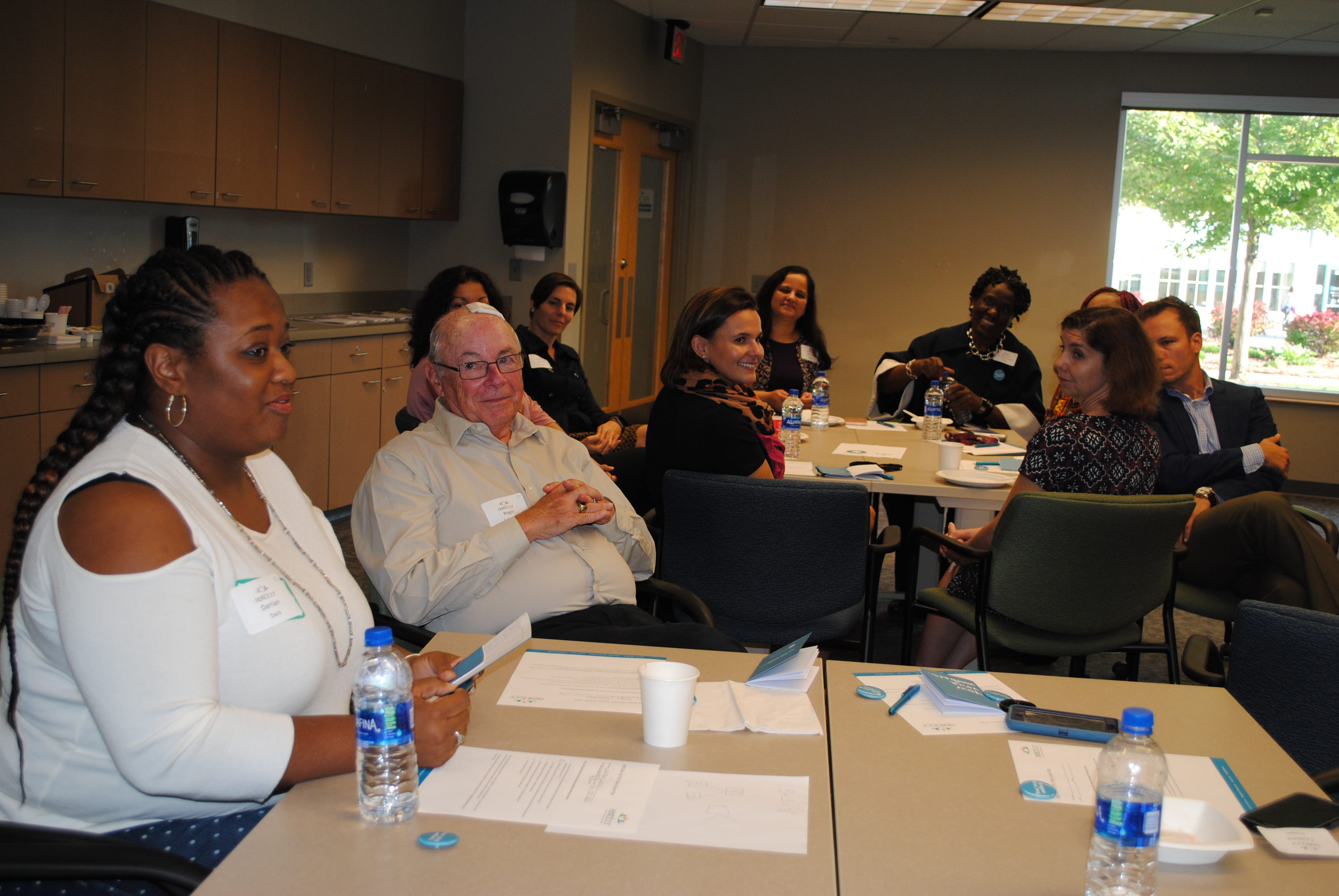 Darrian Davis, a board member and former parent at the Next Door Foundation, talks during a brainstorming session on early childhood education at the nonprofit Tuesday. The discussion was one of hundreds taking place around the region as part of the Greater Milwaukee Foundation's On the Table initiative aimed at improving life in southeastern Wisconsin.