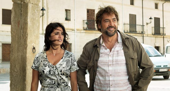 "Penélope Cruz (left) and Javier Bardem play old flames whose reunion takes a dark turn in ""Everybody Knows."""