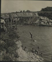 This is what the swimming hole at Estabrook Park looked like in 1931.